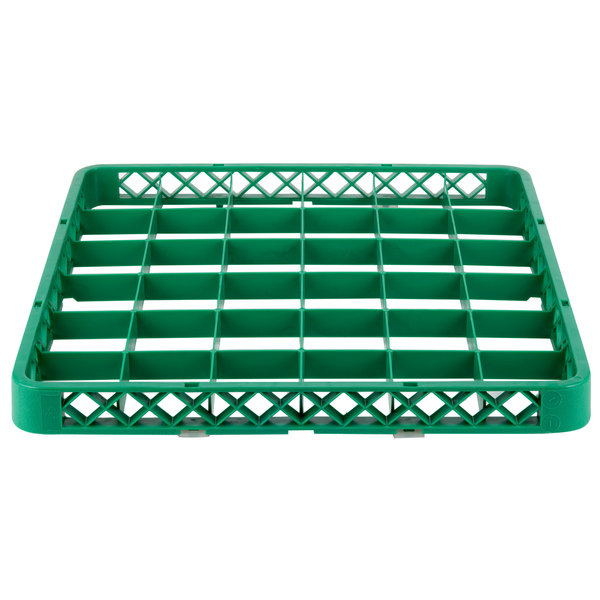 """Noble Products 36-Compartment Green Full-Size Glass Rack Extender - 19 3/8"""" x 19 3/8"""" x 1 3/4"""""""