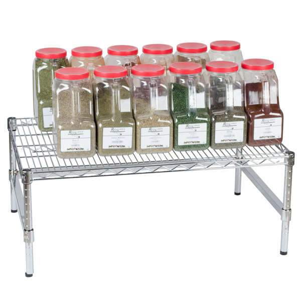 """Regency 36"""" x 24"""" x 14"""" Chrome Plated Wire Dunnage Rack with Extra Support Frame - 600 lb. Capacity"""