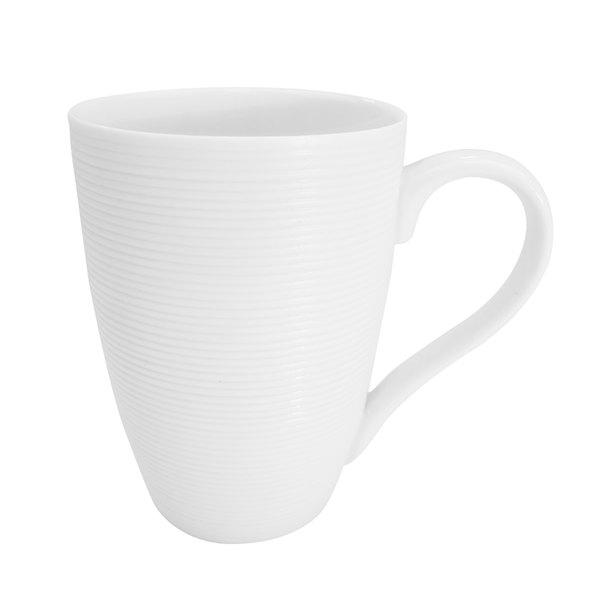 CAC TST-17 Transitions 12 oz. Bright White Porcelain Mug - 36/Case