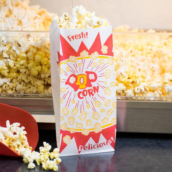 Paragon 1029 1 oz. Paper Popcorn Bags - 1000/Case Main Image 7