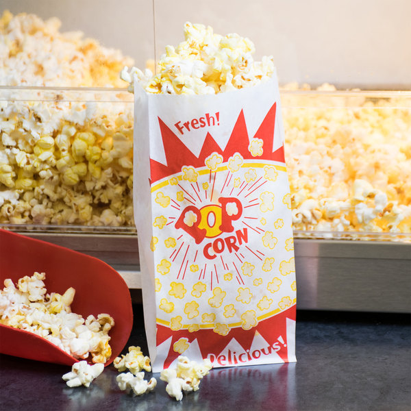 Paragon 1030 1.5 oz. Paper Popcorn Bag - 1000/Case