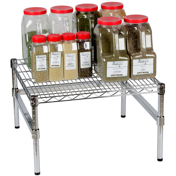 """Regency 24"""" x 24"""" x 14"""" Chrome Plated Wire Dunnage Rack with Exra Support Frame - 600 lb. Capacity Main Image 3"""