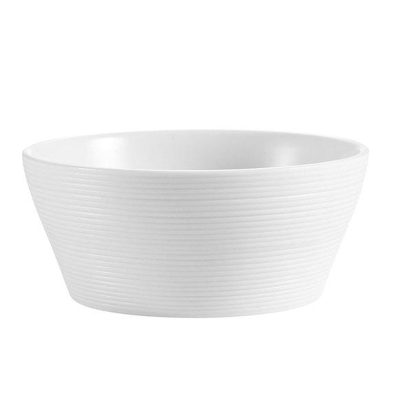 CAC TST-B7 Transitions 40 oz. Bright White Porcelain Bowl - 24/Case