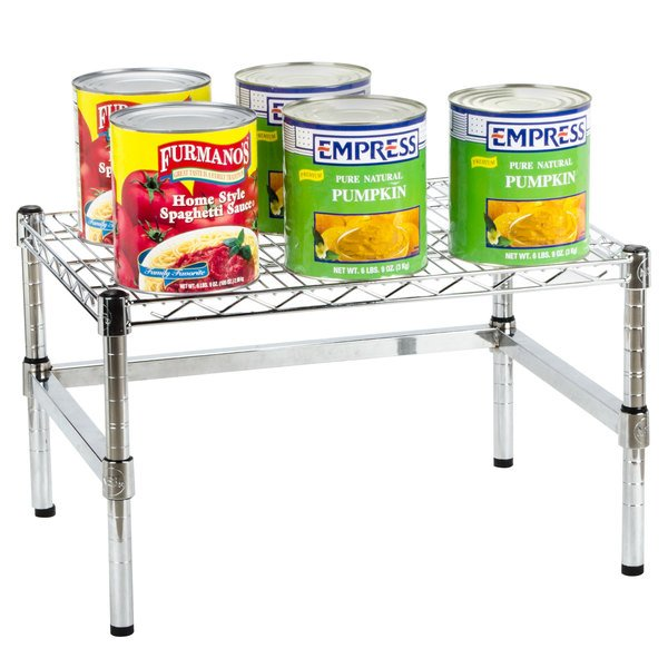 """Regency 24"""" x 18"""" x 14"""" Chrome Plated Wire Dunnage Rack with Extra Support Frame - 600 lb. Capacity Main Image 3"""