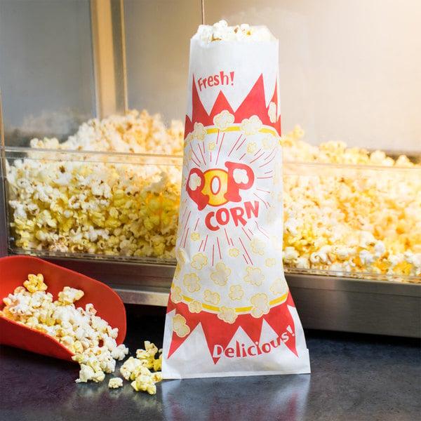 Paragon 1036 2 oz. Jumbo Paper Popcorn Bag - 1000/Case Main Image 6