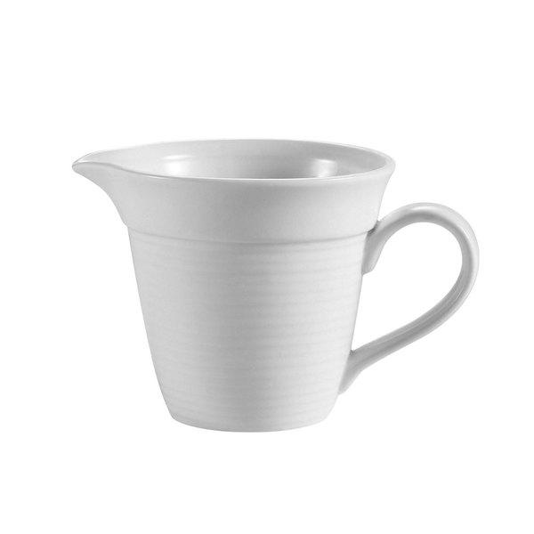 CAC HMY-PC Harmony 4.5 oz. Super White Porcelain Creamer - 36/Case