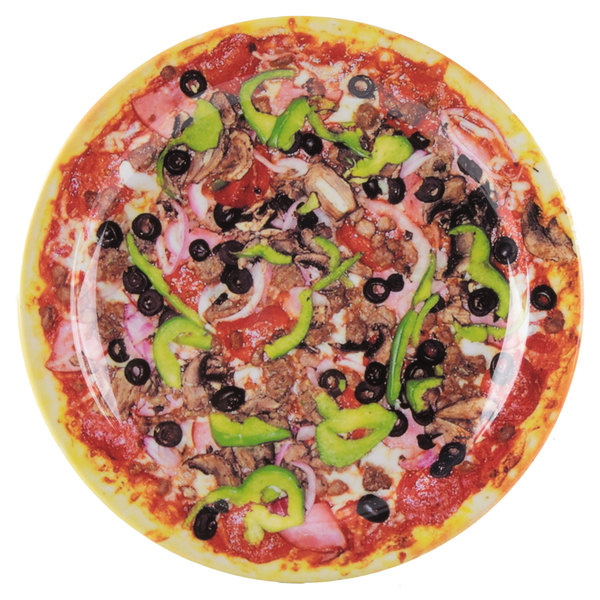 """GET DP-909-PZ Creative Table 9"""" Pizza Round Plate - 24/Case"""
