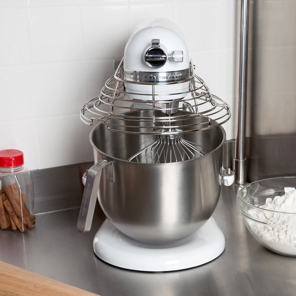 Attrayant KitchenAid KSMC895WH White NSF 8 Qt. Bowl Lift Commercial Countertop Mixer  With Stainless Steel Bowl