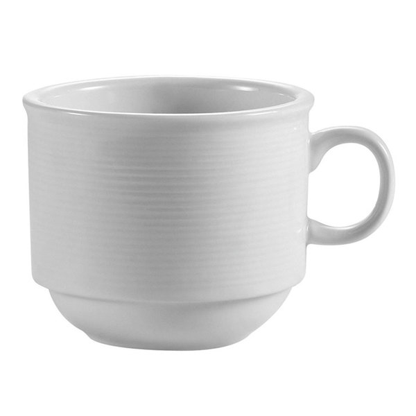 CAC HMY-35 Harmony 3.5 oz. Super White Porcelain Espresso Cup - 36/Case Main Image 1