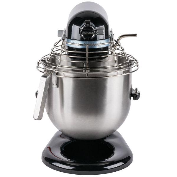 Black KitchenAid 8 qt. Commercial Mixer & Bowl Guard KSMC895OB ... on waring commercial mixer, commercial kitchen mixer, univex commercial mixer, globe commercial mixer, viking commercial mixer, general electric commercial mixer, wolfgang puck commercial mixer, smallest commercial mixer, cake stores commercial mixer, axis commercial mixer,