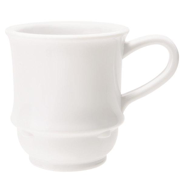 GET TM-1208-W Diamond White 8 oz. White Mug - 24/Case Main Image 1
