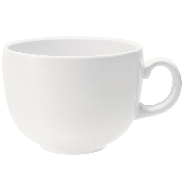 GET C-1002-W Diamond White 24 oz. Cappuccino Cup/Mug - 12/Case Main Image 1