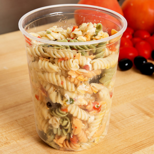 Choice 32 oz. Microwavable Translucent Round Deli Container - 50/Pack