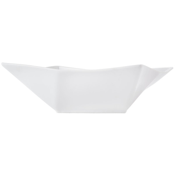 CAC QZT-B8 Crystal 38 oz. Bright White Square Porcelain Bowl - 24/Case