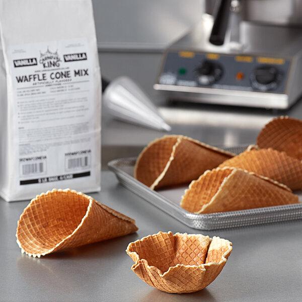 Carnival King Vanilla Waffle Cone Mix 5 lb. Bag Main Image 1