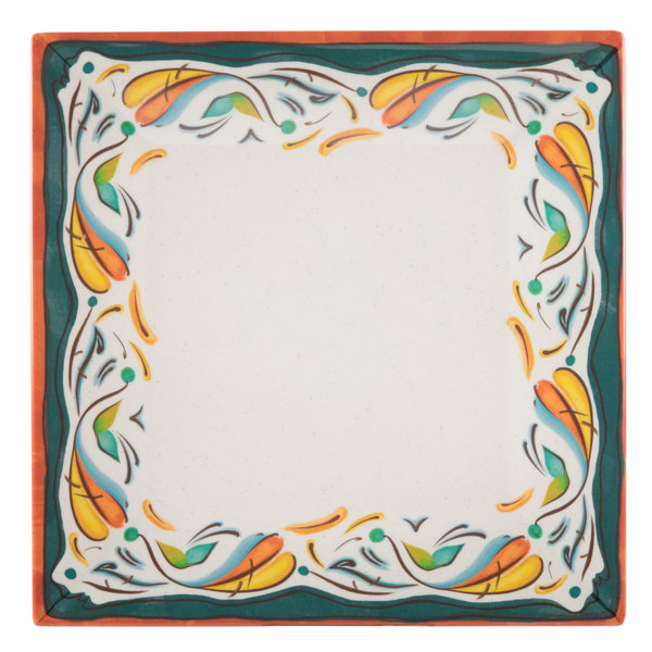 "GET ML-90-BF Bella Fresco 12"" Square Plate - 6/Case Main Image 1"