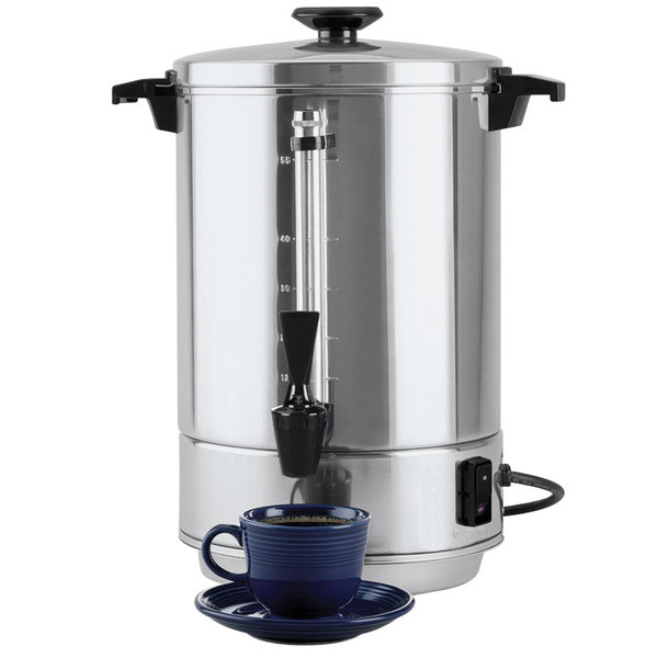 West Bend 58055R 55 Cup (2.2 Gallon) Aluminum Coffee Urn