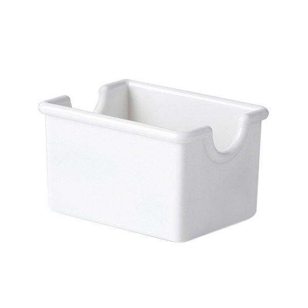 "GET-SC-66-W 3 1/2"" x 2 1/2"" White Sugar Caddy - 24/Case Main Image 1"