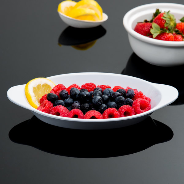GET SD-08-W 10 oz. White Oval Side Dish / Au Gratin - 24/Case