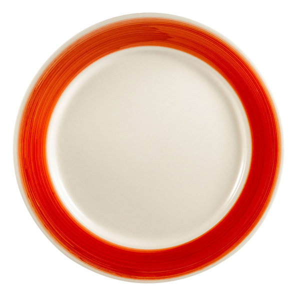 """CAC R-6-R Rainbow Plate 6 1/2"""" - Red - 36/Case Main Image 1"""