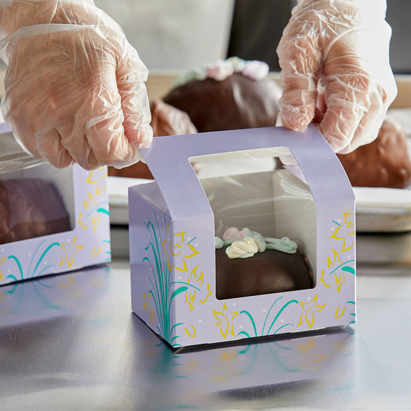 "Easter Egg Box 1 lb. Window Candy Box 5 1/2"" x 4"" x 3 1/2"" - 250/Case Main Image 2"