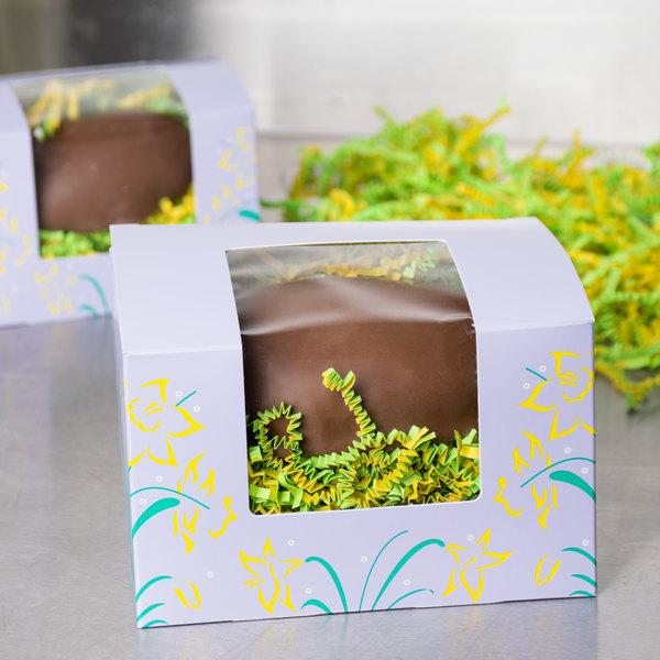 "Easter Egg Box 1 lb. Window Candy Box 5 1/2"" x 4"" x 3 1/2"" - 250/Case"
