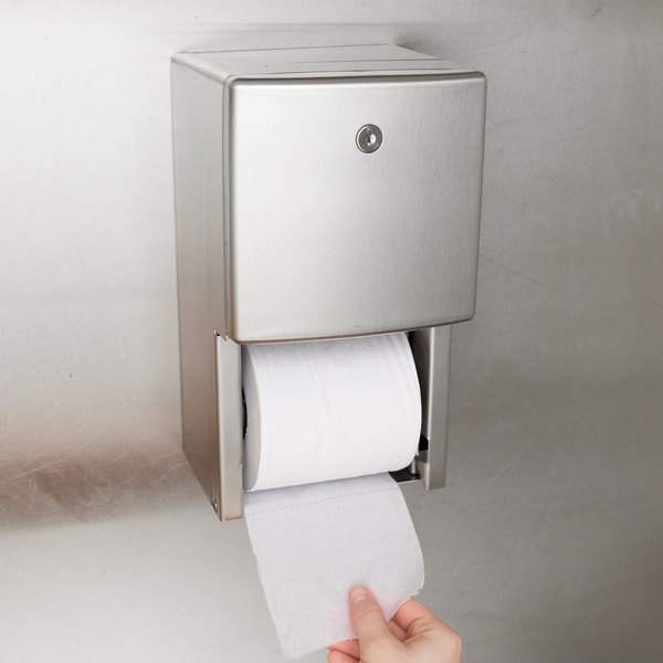 Bobrick B-4288 ConturaSeries Surface-Mounted Multi Roll Toilet Tissue Dispenser with Satin Finish
