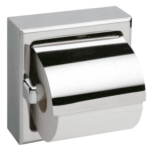 bobrick b 6699 surface mounted toilet tissue dispenser with hood and bright polished finish - Bobrick Toilet Paper Dispenser