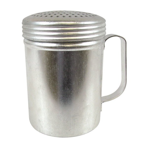 Aluminum shaker with handle and perforated lid