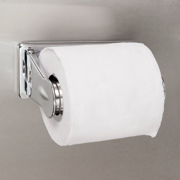 Bobrick B-264 ClassicSeries Surface-Mounted Vandal Resistant Single Roll Toilet Tissue Dispenser with Bright Polished Finish