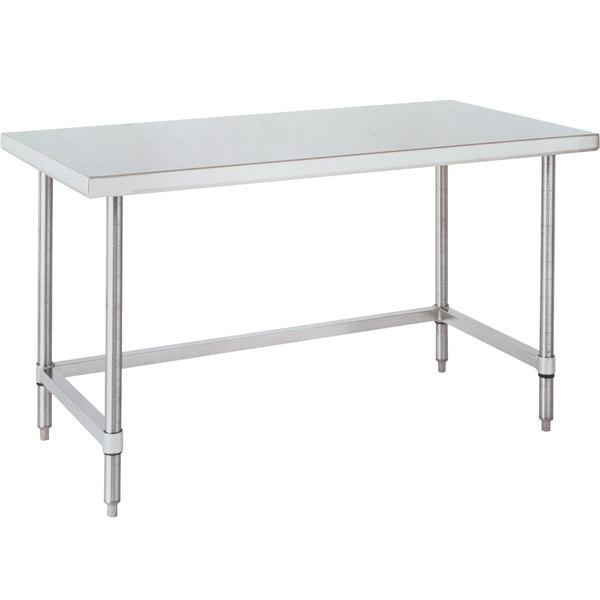 "14 Gauge Metro WT306US 30"" x 60"" HD Super Open Base Stainless Steel Work Table"