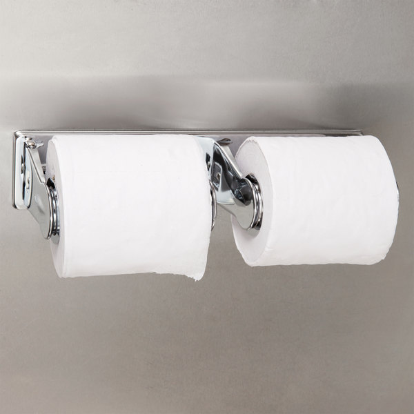 Bobrick B-265 ClassicSeries Surface-Mounted Vandal Resistant Multi Roll Toilet Tissue Dispenser with Bright Polish Finish Main Image 3