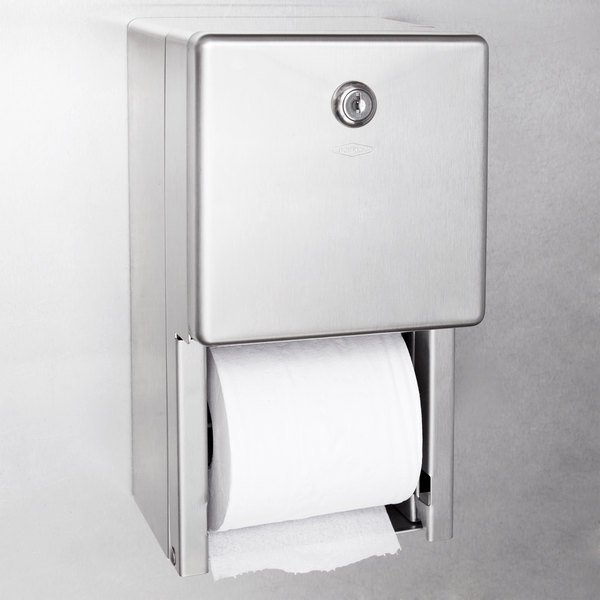 Bobrick B-2888 ClassicSeries Surface-Mounted Multi Roll Toilet Tissue Dispenser with Satin Finish Main Image 4