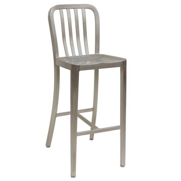 American Tables u0026 Seating 57-BS Armless Slat Back Aluminum Bar Stool  sc 1 st  Webstaurant Store & Tables u0026 Seating 57-BS Armless Slat Back Aluminum Bar Stool islam-shia.org