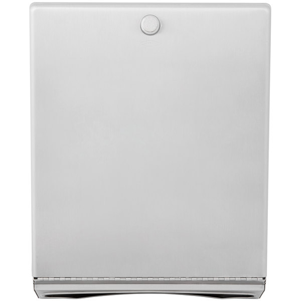 Bobrick B-2620 Stainless Steel Surface Mounted Paper Towel Dispenser - 400 C-Fold Towel Capacity