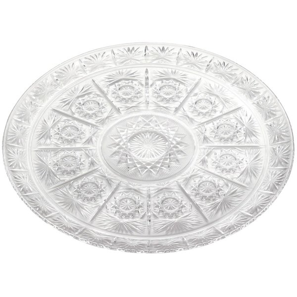 """13"""" Crystal Round Plastic Catering Tray"""