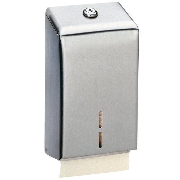 Bobrick B-272 Surface-Mounted Toilet Tissue Cabinet with Satin Finish