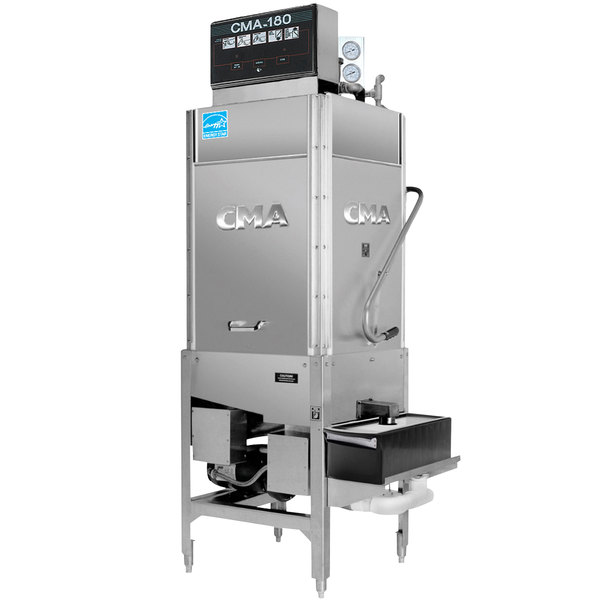 CMA Dishmachines CMA-180TSB Single Rack High Temperature Straight Tall Dishwasher with Booster Heater - 208/240V, 3 Phase