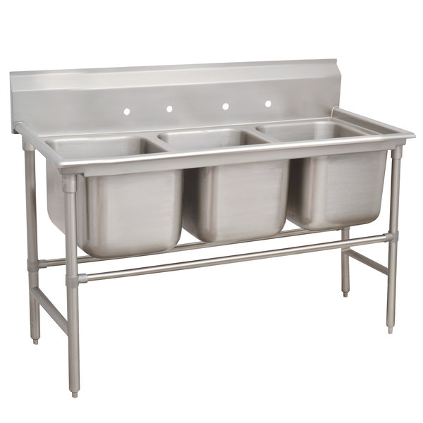 Advance Tabco 94-43-72 Spec Line Three Compartment Pot Sink - 86""