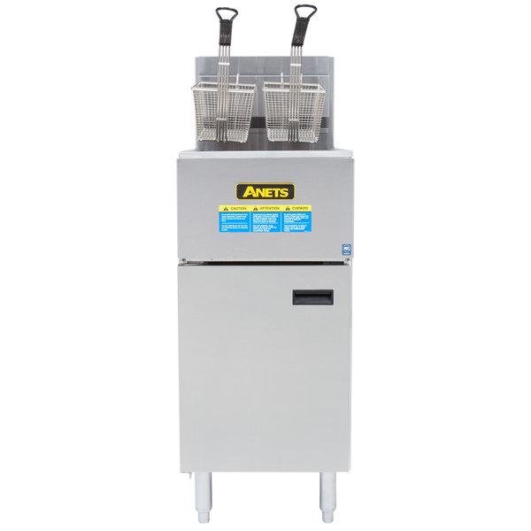Anets SLG40 Natural Gas 35-40 lb. SilverLine Fryer - 90,000 BTU