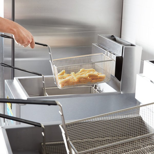Anets SLG40 Natural Gas 35-40 lb. SilverLine Fryer - 90,000 BTU