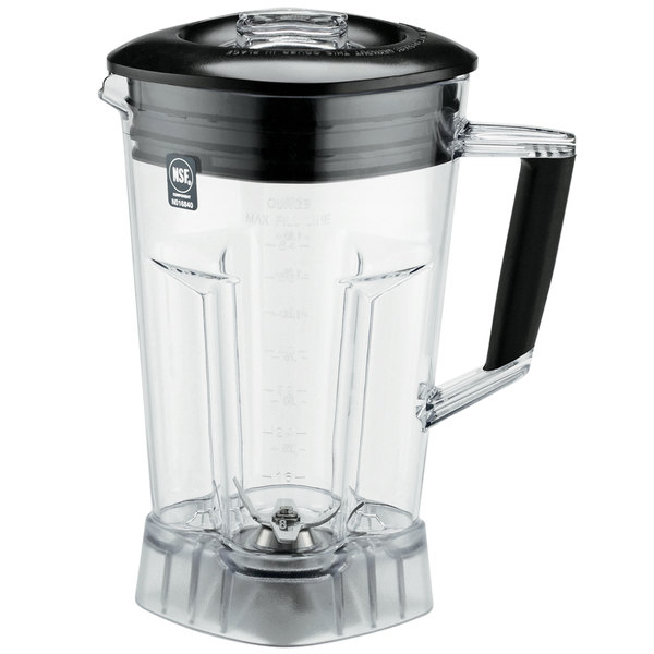 Waring CAC89 64 oz. Clear Copolyester Blender Jar with Blending Assembly and Lid Main Image 1
