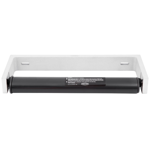 "Bobrick B-253 Paper Towel Roll Dispenser for 6"" Diameter Rolls - 12 1/2"" x 2"" x 4 7/8"""
