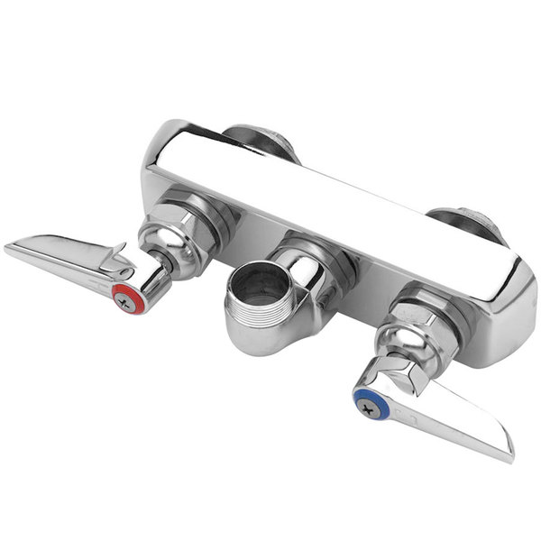 "T&S B-1105-LN Wall Mounted Workboard Base Faucet with 3 1/2"" Centers"