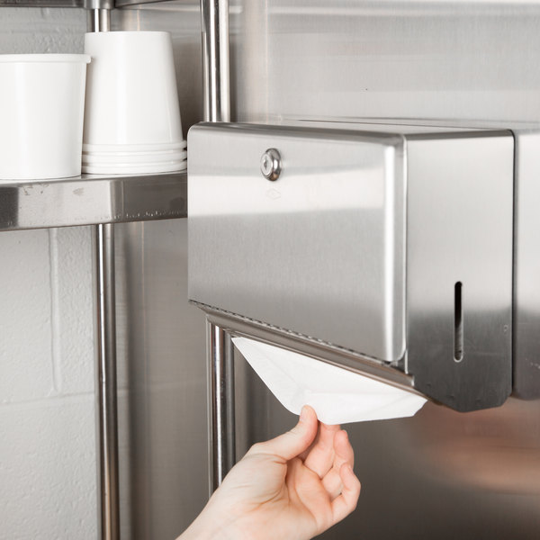 Bobrick B 26212 Stainless Steel Surface Mounted Paper Towel Dispenser 200 C Fold Towel Capacity
