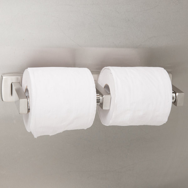Bobrick B-76867 ClassicSeries Surface-Mounted Double Toilet Tissue Dispenser with Satin Finish