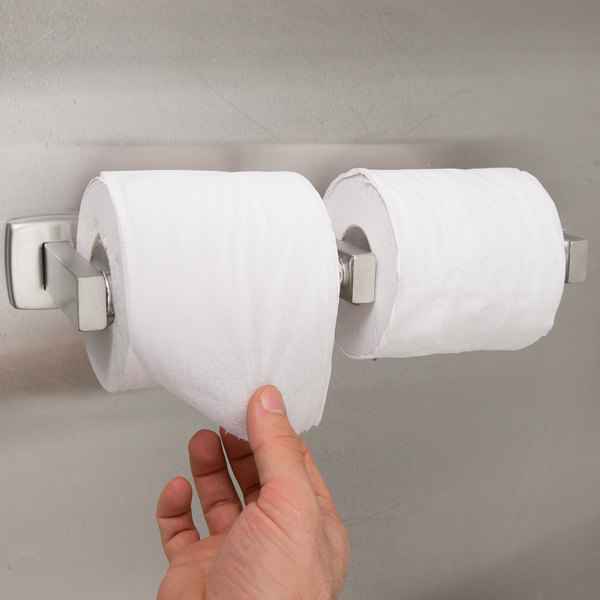 Bobrick B-76867 ClassicSeries Surface-Mounted Double Toilet Tissue Dispenser with Satin Finish Main Image 3