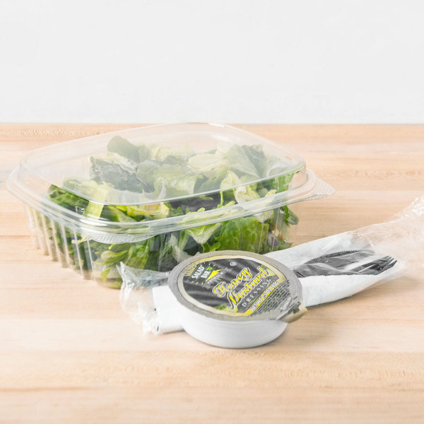 Genpak AD24F 24 oz. Clear Hinged Deli Container with High Dome Lid - 200/Case Main Image 5