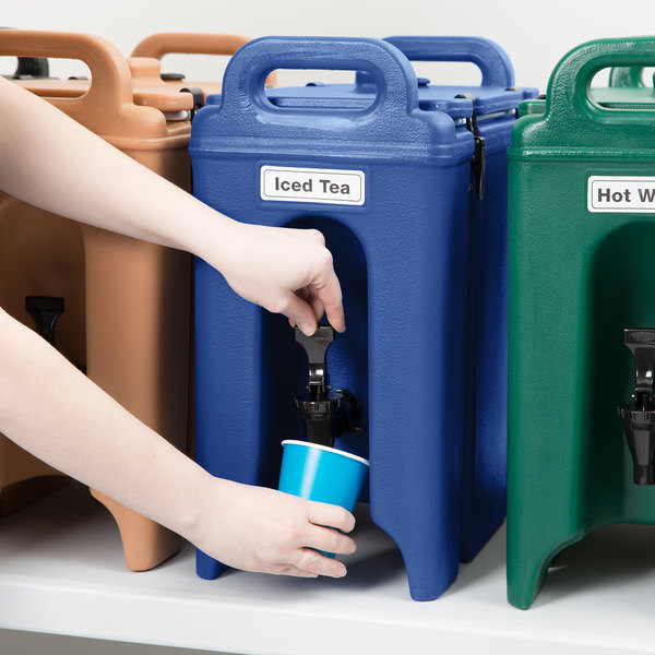 Cambro 250LCD186 Camtainers® 2.5 Gallon Navy Blue Insulated Beverage Dispenser Main Image 5