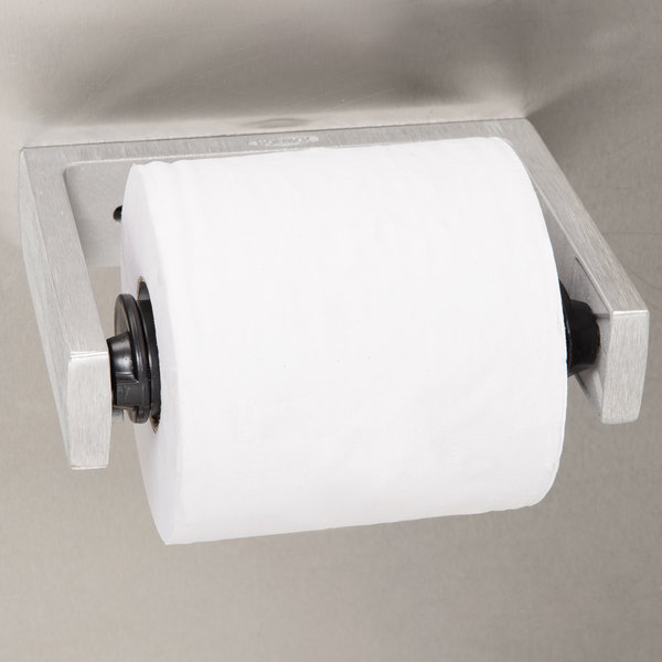 Bobrick B-273 ClassicSeries Single Roll Toilet Tissue Dispenser with Controlled Delivery and Satin Finish Main Image 3